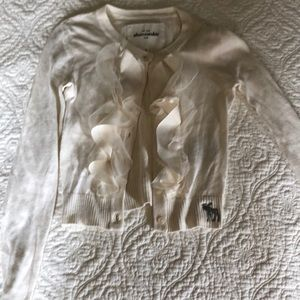 Abercrombie kids size small cardigan sweater